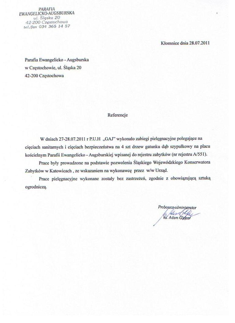 Przycinanie drzew - Parafia Ewangelicko - Augsburska Częstochowa